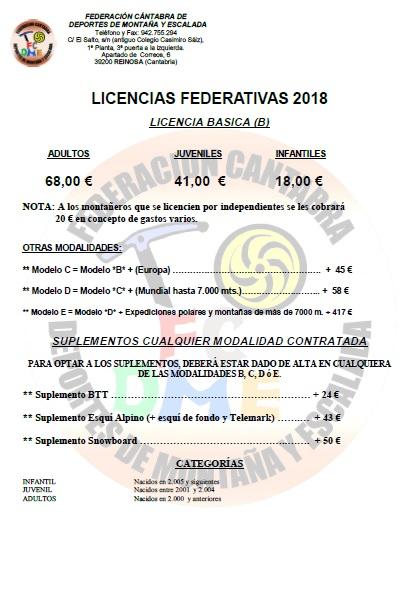 FEDERARSE EN MONTAÑA (FCDME) 2018