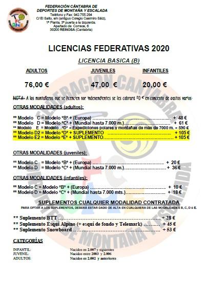 FEDERARSE EN MONTAÑA 2020