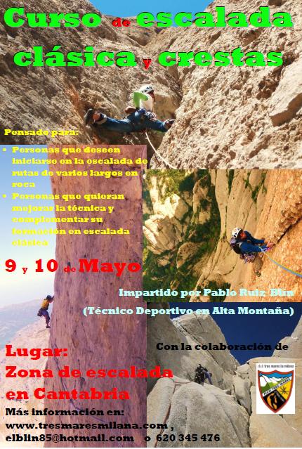 CURSO DE ESCALADA CLASICA Y CRESTAS. 9-10 MAYO.