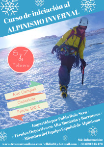 curso INICIACION AL ALPINISMO INVERNAL