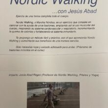 CURSO NORDIC WALKING, DOMINGO 21 MARZO